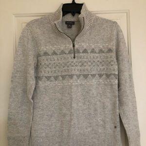 Eddie Bauer quarter zip sweatshirt